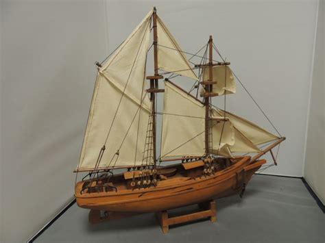 open houten zeilboot handgemaakte houten zeilboot 2 master catawiki