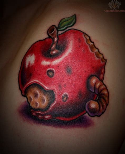 rotten apple tattoo rotten apple