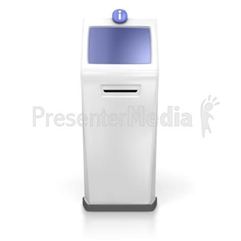 powerpoint templates for kiosk single kiosk science and technology great clipart for