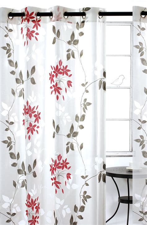 curtain grommets canada dreamscape leaf burnout grommet curtain pair 52x95 quot in