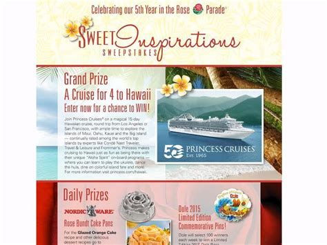 Dole Sweepstakes - dole sweet inspiration sweepstakes