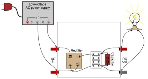 how does a capacitor filter out dc rectifier filter circuit discrete semiconductor circuits