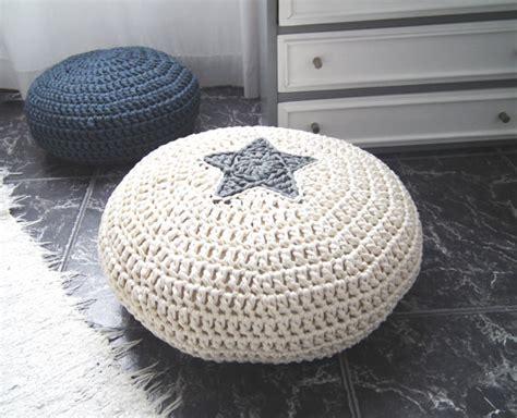 kids pouf ottoman crochet floor cushion star pillow kids floor pillow pouf