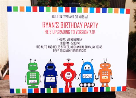 printable robot stationery printable robot invitations birthday party collection new