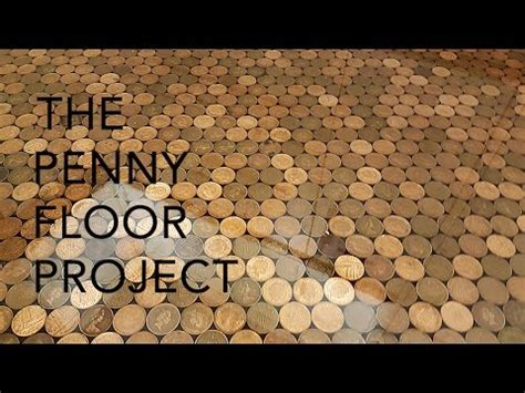 1 Pence Coin Floor - uk floor project using 27 000 1 coins and