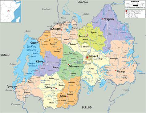 rwanda map detailed political map of rwanda ezilon maps