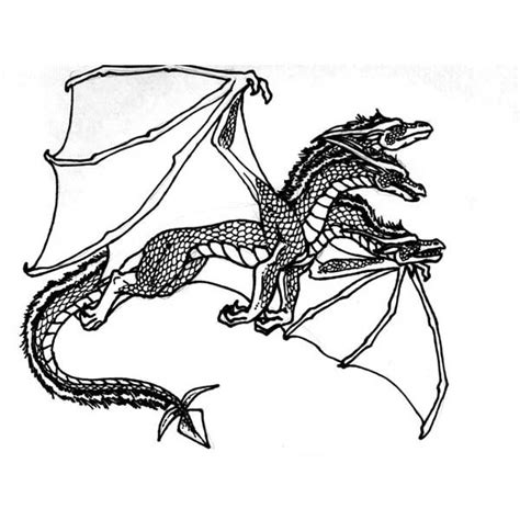 4 headed dragon coloring pages coloring pages