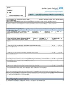 mental health assessment template sle health assessment sle health assessment form