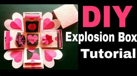 explosion box tutorial anniversary explosion box tutorial diy valentine s anniversary