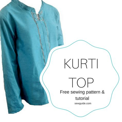 kurta pattern sewing easy kurti top sewing pattern sew guide