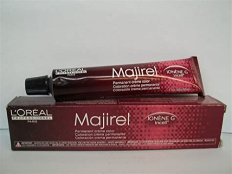 buy l oreal professionnel majirel permanent creme color ionene g incell 4 15 4brv in cheap price l oreal professionnel majirel ionene g incell permanent creme color 7 43 7cg l oreal