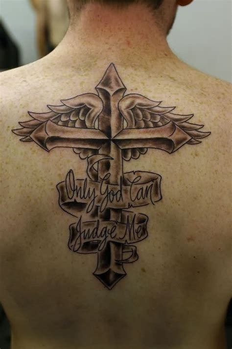 cross with wing tattoo 46 cross tattoos ideas for and inspirationseek