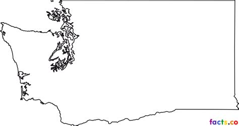 Blank Outline Map Of Washington State by Washington Maps Political Physical Cities And Blank Outline