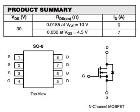 mosfet transistor basics pdf 4800b datasheet 4800b pdf pinouts circuit vishay semiconductors