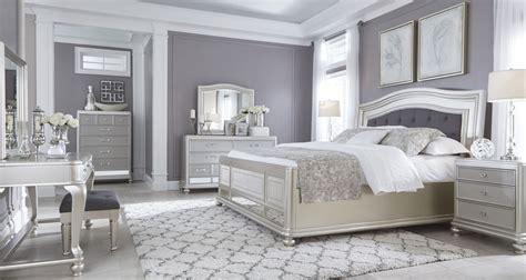 coralayne silver bedroom set  ashley     coleman furniture