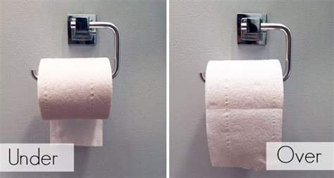 how to hang toilet paper it s official there is only one correct way to hang