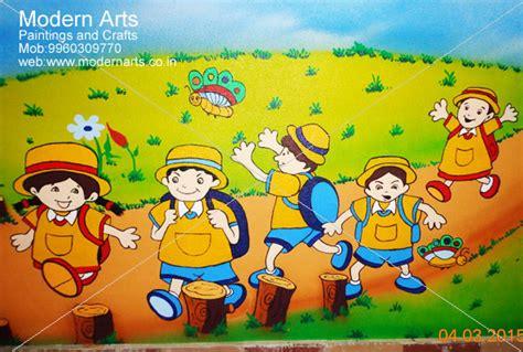 cartoon wall painting in bedroom painting artist mumbai school wall painting artist maharashtra kids bedroom cartoon