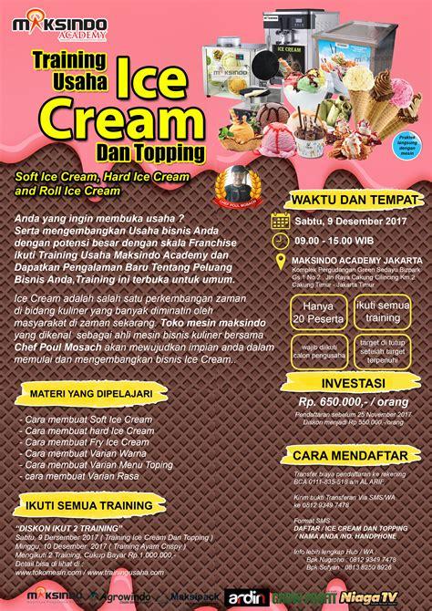 membuka usaha ice cream training usaha ice cream dan topping 09 desember 2017