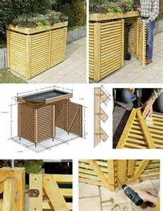 1000 ideas about garbage can shed on build