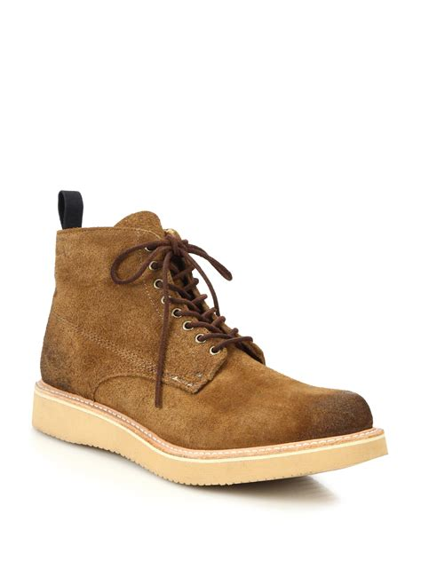 rag bone mens boots lyst rag bone fleet suede lace up boots in brown for