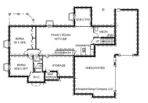 Ranch Floor Plans With Basement | ranch style house plans with basements cottage house plans