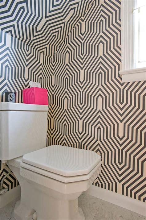 funky bathroom wallpaper ideas geometric house to home