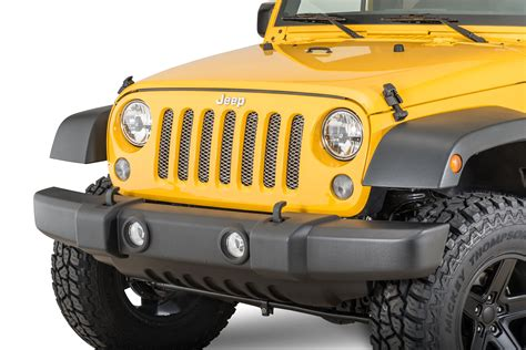 jeep grill rugged ridge mesh grille insert for 07 18 jeep wrangler jk