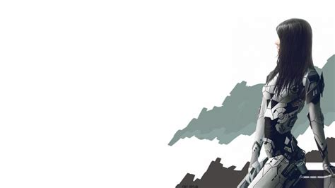 anime armor girl wallpaper futuristic cyberpunk girl armor wallpaper anime