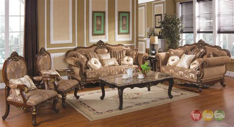 traditional antique style formal living room furniture set tuscan villa traditional formal sofa set