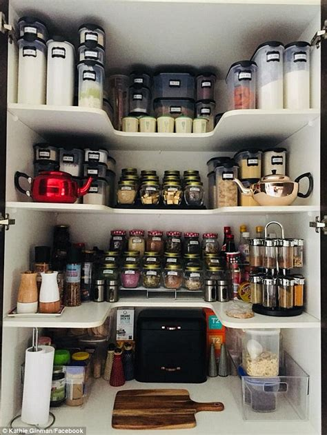 brisbane teacher shows   supremely organised kmart pantry daily mail