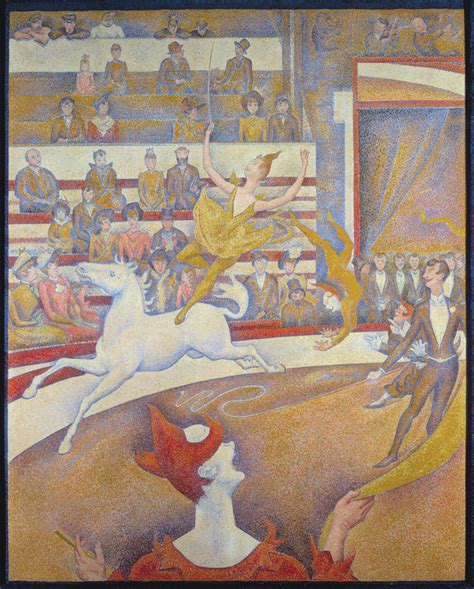 georges seurat most famous paintings turn of the century exclamationmark the circus 1891 by