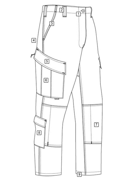 shirt pattern diagram tactical response uniform 174 t r u 174 pants tru spec