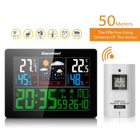 excelvan color home wireless weather station wind forecast