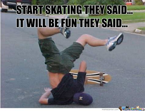 challenge excepted funny skateboarding meme picture