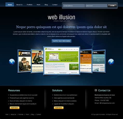 6477 Web Design Consulting Website Templates Dreamtemplate Web Designer Templates