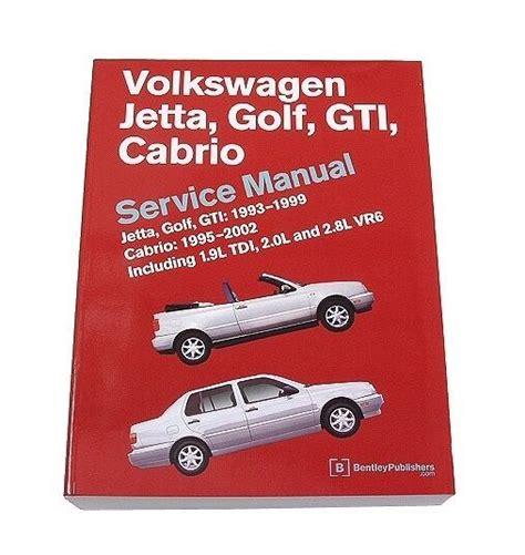 Bentley Diagram Repair Service Manual Volkswagen Vw Cabrio