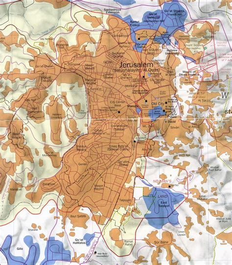 jerusalem israel map israeli palestinian conflict