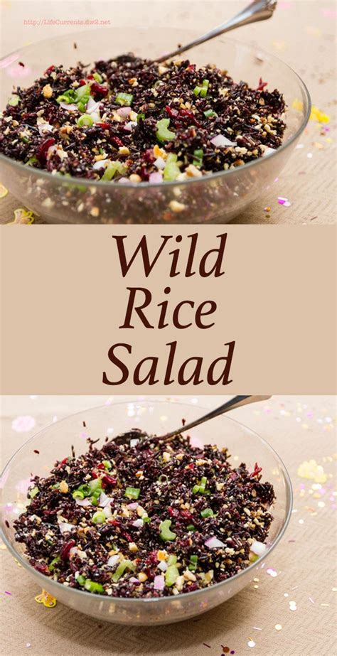 Summer Rice Shower rice salad recipe a well dried cranberries and summer