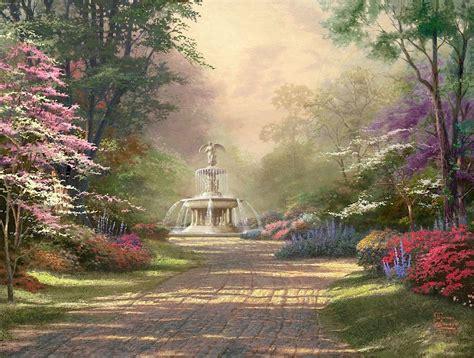 fountain  blessings thomas kinkade galleries