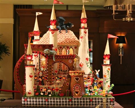 seattle gingerbread houses seattle sheraton gingerbread village 2012 alice in wonderland one hundred