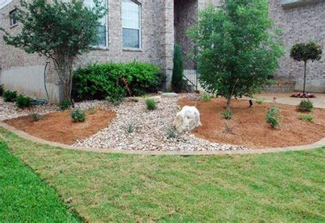 mulch bed ideas pea gravel designs in mulch beds google search yard
