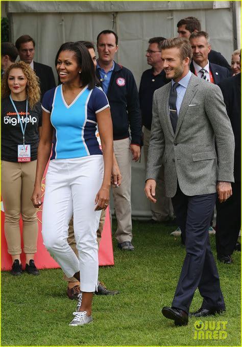 michelle obama in london michelle obama david beckham prep for london olympics