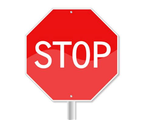 stop sign template free stop sign powerpoint slide templateswise