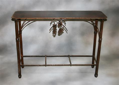 pine cone table pine cone accent table frontier iron works