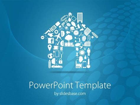 free real estate powerpoint templates house shape powerpoint template slidesbase