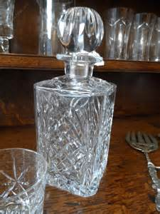 antiques atlas heavy cut glass decanter and stopper