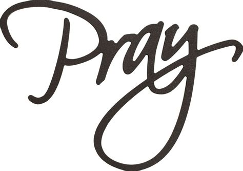 Word Signs Home Decor Shop Word Pray From P Graham Dunn At Ladybug Junction