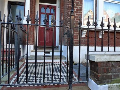 wrought iron garden wall brick garden wall metal rail iron gate brixton
