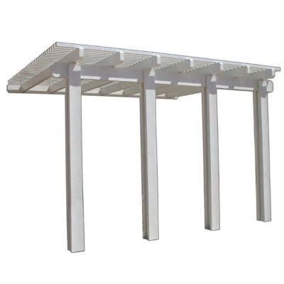 Patio Covers At Home Depot Four Seasons Building Products 14 Ft X 12 Ft White