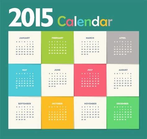free design resources 2015 creative new year calendar 2015 vector illustration free